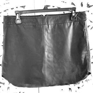 Karina Grimaldi black leather skirt